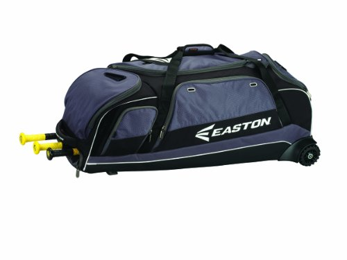 Best Catcher Bag on Amazon. EASTON E900C Catchers Equipment & Bat Wheeled Bag | Baseball Softball | 2020 | Black | 3 Bat Compartment | Vented Pockets - Minimize Odor & Quick Dry | Lockable Zippered Pockets |Fence Hock