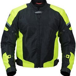 Best Motorcycle Jacket at Amazon, Pilot Motosport Men's Direct Air Mesh Motorcycle Jacket (V3) (Hi-Vis, Medium)