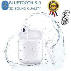 Bluetooth Headphones Wireless Earbuds with Charging Case Noise Canceling Sports Headphones 3D Stereo IPX5 Waterproof - in-Ear Headphones for iPhone Apple Airpods Android Sport Headphones