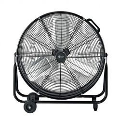 Best Drum Fan On Amazon. Comfort Zone CZMC24 2-Speed High-Velocity 24-inch Industrial Drum Fan with Aluminum Blades, 180-Degree Adjustable Tilt and Built-in Rubber Wheels