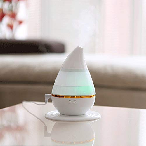 Cool Mist Humidifiers for Bedroom, 250ML Aroma Essential Oil Diffuser Aromatherapy Mini Air Purifiers for Home Ultrasonic Humidifier Perfume Atomizer with Space-Saving, Auto Shut-Off, 7 LED Lights