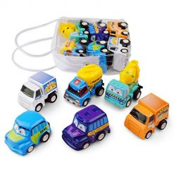 Dethler 6pcs Kid Mini Cars Toys Children Inertia Pull Back Vehicle Toy Pull Back Vehicles