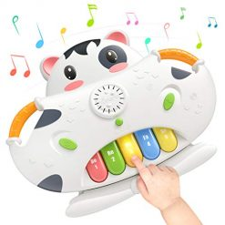 TUMAMA 2-in-1 Piano Musical Toys & Shape Sorter Blocks Toys, Baby Early Educational Development Learning Toys with Light & Sounds, Gift for Boys & Girls Kids or Toddlers Aged 1 2 3 4 5