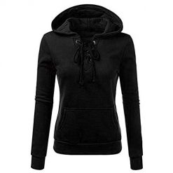 Goutique Hoodie Sweatshirt Ultra Soft Tri-Color Block Pullover Top Patchwork Casual Pullover Blouse with Pocket