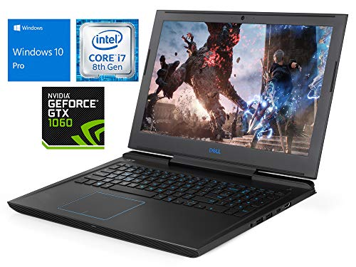 """Best Laptop For Game Design Student On Amazon, Dell G7 Laptop, 15.6"""" FHD Display, Intel Core i7-8750H Upto 4.1GHz, 64GB RAM, 2TB SSD + 1TB HDD, NVIDIA GeForce GTX 1060, HDMI, Thunderbolt, Card Reader, Wi-Fi, Bluetooth, Windows 10 Pro"""
