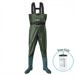RexSoul Chest Waders, Fishing Waders Hunting Bootfoot with Wading Belt 100% Waterproof Nylon and PVC Lightweight Chest Waders with Wading Boots for Men & Women