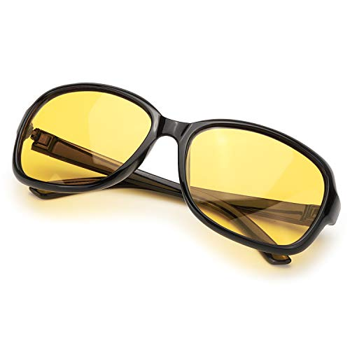Best Anti Glare Glasses Night Driving At Amazon, SIPHEW Oversized Night Driving Glasses for Women, Anti-glare HD Vision Polarized Yellow Lenses Relieve Eyes Strain