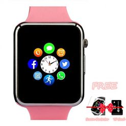 Smartwatches You Can Text On? Amazqi Smart Watch, Smartwatch Phone with Camera TF Card Pedometer SIM Card Slot Music Player Compatible for IOS IPhone (Partial Functions) Android Phone Samsung HTC Sony LG HUAWEI for Women Girl Kids