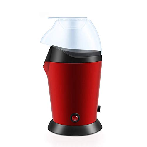 1200W Hot Air Popcorn Popper Home Party Popcorn Maker Small Popcorn Machine with Measuring Cup and Removable Lid, No Oil/No Water/No Seasoner Needed (Round)
