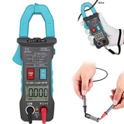Womdee True RMS Multimeter, 4000 Counts Digital Clamp Meter for AC&DC Current Amperage Voltage Ohm Resistance Frequency Electrical Tester with Backlit Continuity