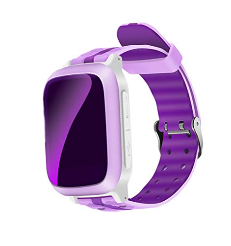 Android Smartwatch For Texting, Ching Ching Kids Splashproof Smartwatch GPS Tracker Smart Touch with Sim Card SOS for 3-12 Year Old Boys Girls Android iOS,Pink
