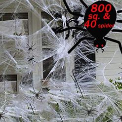 800 sqft Spider Web Cobwebs Decorations, Large Spider Halloween Web Decorations with 40 Halloween Fake Spider Outdoor/Indoor,Use for Halloween Decorations Clearance800 sqft Spider Web Cobwebs Decorations, Large Spider Halloween Web Decorations with 40 Halloween Fake Spider Outdoor/Indoor,Use for Halloween Decorations Clearance