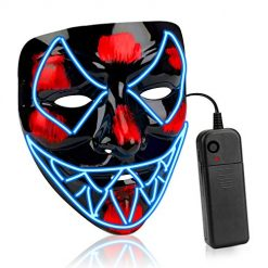 Scary Halloween Mask Venom Mask Led Light Up Mask Eco-Friendly Material Cosplay for Adult Kids Festival Party