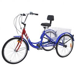 Best Three Wheel Bicycle For Seniors At Amazon. DoCred Adult Tricycle Trike 1Speed/7 Speed Three-Wheeled Bike, 26 Inch Adult Tricycles Cruiser Bikes w/Low Step-Through Aluminum Frame (26 Inch, 7-Speed, Star Stripes)