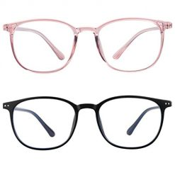 blue light blocking glasses women men-FEIDU computer fake glasses HD clear lens glasses3030 (black, 2.04)