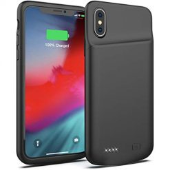 Smiphee Battery Case for iPhone X/XS, 4000mAh Portable Protective Charging Case Extended Rechargeable Battery Pack Charger Case Compatible with iPhone X/XS / 10 (5.8 inch) (Black)