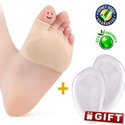 Metatarsal Pads, Gel Sleeves Forefoot Cushion Pads, Fabric Soft Foot Care Ball of Foot Cushions for Bunion Forefoot Mortons Neuroma Blisters Callus Supports Metatarsalgia Pain Relief (Metatarsal Pads)