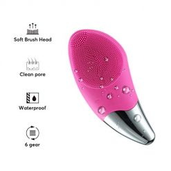Facial Cleansing Brush, Face Cleanser and Massager Brush Electric Silicone Face Massager Brush IPX7 Waterproof Anti-Aging Skin Cleanser, Deep Cleaning for All Skins, Gentle Exfoliating and Massaging