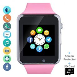 Can You Text on Smart watches? Smartwatch Smart Watch Phone with SD Card Camera Pedometer Text Call Notification SIM Card Slot Music Player Compatible for Android SamsungLG Huawei and IPhone (Partial Functions) for Women Girl Kids