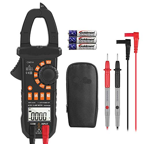 Amazon Discount Best Clamp Meter Amp meter Digital Multimeter 4000 Counts with NCV Auto-Ranging Testing AC/DC Current&Voltage, Continuity Electrical Tester, Diode, Resistance, Capacitance, Frequency- Tacklife CM01A