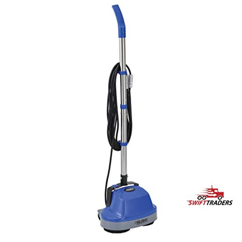 """Best polish floor machine On Amazonpolish floor machineMini Floor Scrubber with Floor Pads, 11"""" Cleaning Path - for Scrubbing Tiles, Wood, Marble, Other Hardwood Floors, Carpets (Carpet-Cleaning Bonnets Included)"""