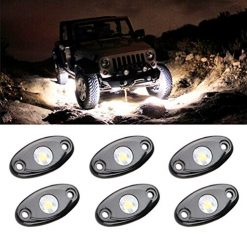 Best Rock Lights For Jeep At Amazon, LED Rock Light Kits with 6 pods Lights for JEEP Off Road Truck Car ATV SUV Motorcycle Under Body Glow Light Lamp Trail Fender Lighting (White)