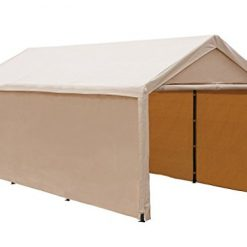 Best Car Shelters and Canopy At Amazon, Abba Patio 10 x 20 ft Heavy Duty Beige Carport, Car Canopy Versatile Shelter with Sidewalls, Beige