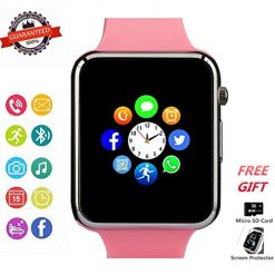 Coupon Discount For Best Smartwatch Texting At Amazon, Smart Watch Phone Smartwatch with Camera Pedometer Call Text SNS Sync SIM Card Slot TF Card Music Player Alarm Compatible with Android and IPhone (Partial Functions) for Women Girls Kids Teens (Pink)