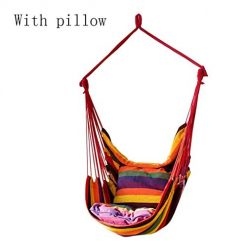 edited Canvas Garden Indoor Outdoor 150Kg Weight Bearing Hammocks Swing Chair Hanging Rope