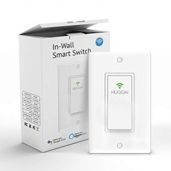 Smart Light Switch, HUGOAI Wi-Fi Smart Light Switch with Timer and Remote Control, Voice Control With Alexa, Google Home and IFTTT, Easy and Safe Installation, No Hub Required