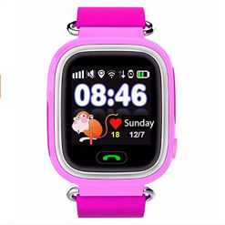YWZQ Kids Smart Watch, 5 Positioning System Smart Wrist Watch Boys Girls Two-Way Call SOS Call for Mobile GPS Tracker for Children, Pink