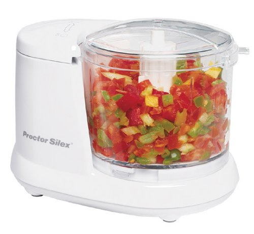 Best Electric Food Chopper 2019 On Amazon. Proctor Silex 72500RY Durable Mini Food and Vegetable Chopper 1.5 Cup White