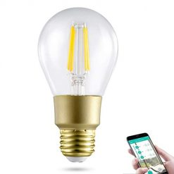 Austruke A19 Smart Led Light Bulb Wi-Fi Bulb,A19 Dimmable 2700K 80W Equivalent 800LM Daylight Night Lights, No Hub Required Compatible with Alexa and Google Assistant