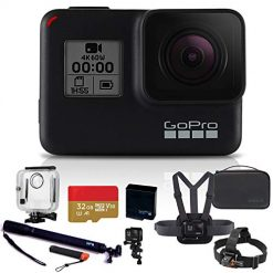 Coupon Discount For Best Gopro Chest Mount On Amazon. GoPro HERO7 Black with Selfie Stick, Chest Mount, Handlebar/Seatpost/Pole Mount + GoPro Fusion Battery + Floating Hand Grip + VIVITAR Action Camera Head Strap Mount + Fusion Case Bundle