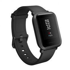 Best Text Messaging Watch, Amazfit Bip Smartwatch by Huami with All-Day Heart Rate and Activity Tracking, Sleep Monitoring, GPS, Ultra-Long Battery Life, Bluetooth, US Service and Warranty (A1608 Black)