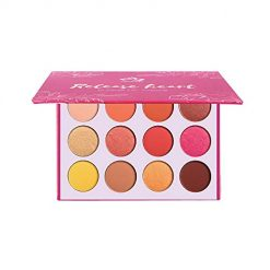 12 Color Pressed Powder Shadow Palette Sunset dusk pearly matte glow shimmer peachy orange eye shadow Shine Diamond Eyeshadow Powder Pigment Cosmetics
