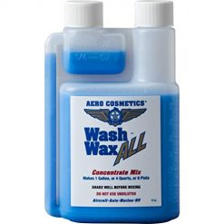 Best Wax For a Black Car, Aero Cosmetics Wet or Waterless Car Wash Wax Concentrate 8 oz Makes 1 Gallon Aircraft Quality Wash Wax for Your Car RV & Boat.