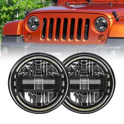 Jeep Wrangler With LED Headlights, LED Headlight for Jeep Wrangler COWONE 7