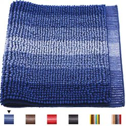 Bathroom Rug 32×20,Haod Extra Soft Absorbent Bath Shag Mat, Non Slip and Machine-Washable Bath Carpet for Tub Shower Bath Room (Blue)