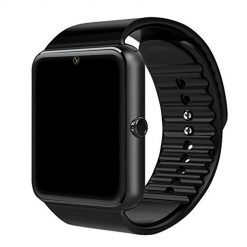 Smartwatch That Allows You to Text, Geggur GT08 Smart Watch, Wireless Touchscreen Smart Wrist Watch Smartwatch Phone Fitness Tracker with SIM SD Card Slot Camera Pedometer Compatible iOS/Android for Women Kids Men