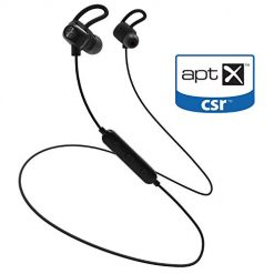 ZeptX Bluetooth Headphones,Lightweight Sports Running Magnetic Wireless in-Ear Earbuds with Mic,Secure Fit 8 Hours AptX HD Stereo Bass IPX4 Waterproof Noise Cancelling for Apple iPhone Android Phones