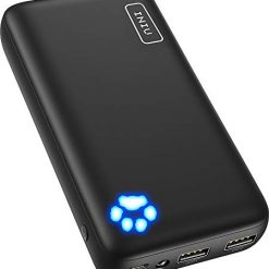 20000mah battery pack, INIU Power Bank, Ultra-high Capacity Portable Charger with Type C & Micro USB Inputs, Dual 3A High-speed Outputs Battery Pack, Compatible with iPhone 11 Xs X 8 Samsung Galaxy S10 Note 10 iPad