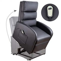 Best Leather Sofa Recliners At Amazon. Homall Electric Power Lift Recliner Chair Sofa PU Leather Home Recliner for Elderly Classic Lounge Chair Living Room Chair with Safety Motion Reclining Mechanism(Black)