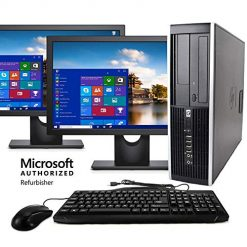 Best Computer For Microsoft Office On Amazon? HP Elite Business Desktop Computer Tower PC (Intel Ci5-2400, 8GB Ram, 1TB HDD, Wireless WiFi, DVD-ROM, Keyboard Mouse) 24inch Dual LCD Monitor Brands Vary, Windows 10 (Renewed)