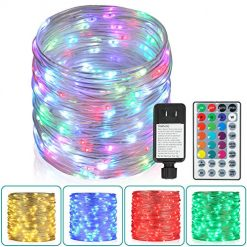 Best Outdoor Rope Lights On Amazon. 80Ft Outdoor Rope Lights, 240 LEDs Color Changing Lights with Remote, Waterproof String Lights Plug-in Fairy Lights Twinkle Lights for Outdoor, Wedding, Patio, Garden, Home Decor,16 Colors Option