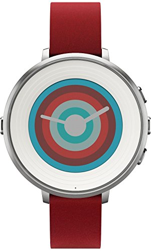 Best Watches That Text, Pebble Technology Corp Smartwatch for iPhone/Android Smartphone - Silver/red