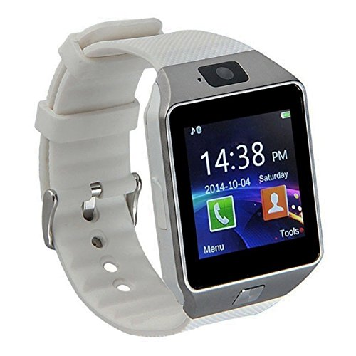 Watch That Receives Texts. Pandaoo Smart Watch Mobile Phone Unlocked Universal GSM Bluetooth 4.0 Music Player Camera Calendar Stopwatch Sync with Android Smartphones(White)