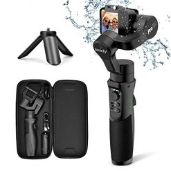 Best Gimbal For Gopro Hero 7 At Amazon, 3axis Gimbal Stabilizer for GoPro Action Camera Handheld Pro Gimbal Tripod Stick with Motion Time-Lapse APP Control for Gopro Hero 7,6,5,4,3,SJ CAM,YI Cam,Sony RX0 - Hohem, Black
