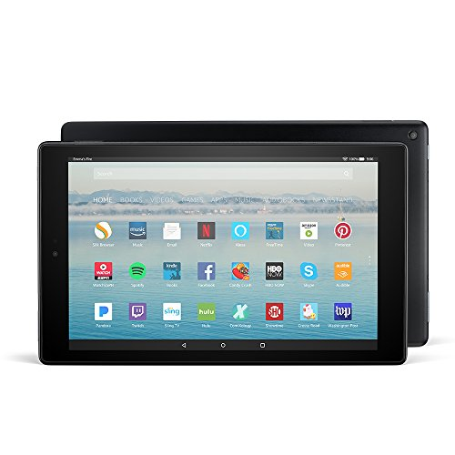 "Best Video Calling Tablet 4g At Amazon, Fire HD 10 Tablet with Alexa Hands-Free, 10.1"" 1080p Full HD Display, 32 GB, Black (Previous Generation - 7th)"