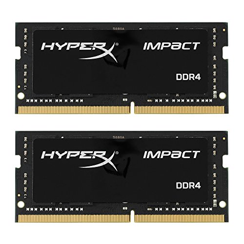 Best DDR4 Ram For Gaming laptop At Amazon, HyperX Kingston Technology Impact 32GB Kit (2x16GB) 2400MHz DDR4 CL14 260-Pin SODIMM Laptop HX424S14IBK2/32